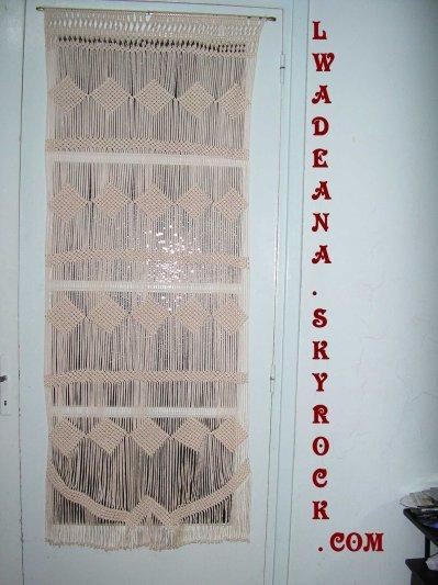 Rideau macrame pour porte de salon a blog de lwadeana for Porte rideau salon